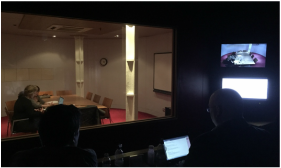 Picture of a user testing observation room